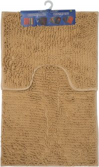 Набор ковриков в ванную комнату Kornel 50 х 80, 40 х 50 см Кремовый (KL-46 кремовий)