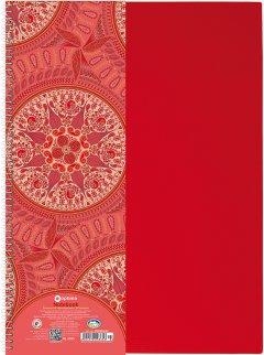 Блокнот Optima Kaleidoscope А4 в клетку 80 листов Красный (O20365-03)
