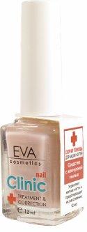 Лак для ногтей EVA cosmetics Clinik Средство с жемчужной пылью Нежный розовый перламутровый 12 мл (5901053031421)