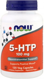 Аминокислота Now Foods 5-HTP (Гидрокситриптофан) 100 мг 120 гелевых капсул (733739001061)
