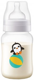 Бутылочка для кормления Philips Avent Anti-colic с декором пингвина 260 мл (SCF821/13) (8710103868842)