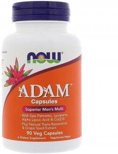 Супер мультивитамины для мужчин Now Foods Adam 90 гелевых капсул (733739038784)