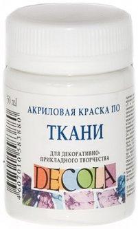 Краска акриловая по ткани Невская палитра Декола белая 50 мл (4607010583880)