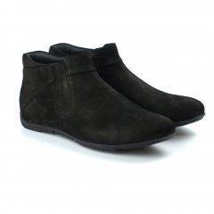 Полуботинки зимние Rosso Avangard Elf Grasso Nub черный нубук натуальный мех обувь больших размеров 48р 31.5 см(45865215548)
