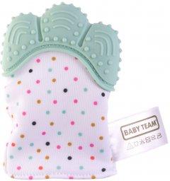 Прорезыватель-перчатка Baby Team бирюзовая (4090_бирюзовый)