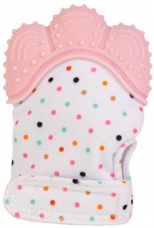 Прорезыватель-перчатка Baby Team розовая (4090_розовый)