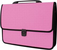 Портфель Economix на застежке фактура Вышиванка Розовый (E31641-09)