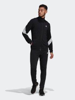 Спортивный костюм Adidas M Cotton Ts GM3826 XL Black/White (4064044078544)