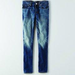 Жіночі джинси скінні AEO Skinny Jean BLUE (XS)