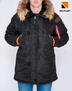 Зимова куртка Olymp N-3B Аляска Old School АЛ-9 M Чорна