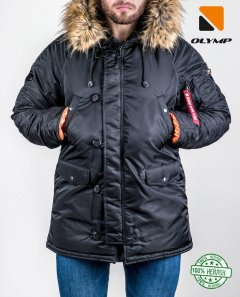 Зимова куртка Olymp N-3B Аляска А-3 XS Чорний