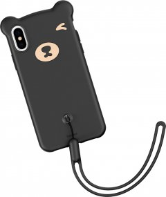 Панель Baseus Bear Silicone для Apple iPhone Xs Max Black (WIAPIPH65-BE01)