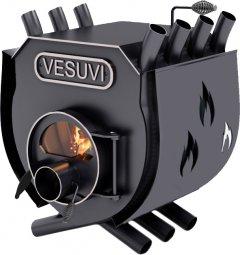 Печь калориферная для дома и дачи Vesuvi О1 с варочной поверхностью, со стеклом + перфорация (VW-012005SP)