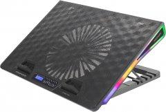 Охлаждающая подставка для ноутбука Promate Arctic Black (arctic.black)