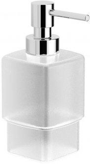 Дозатор для жидкого мыла VOLLE Teo 15-88-121 матовое стекло/хром