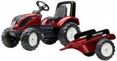 Детский трактор Falk 4000AB Valtra S4 на педалях с прицепом Красный (4000AB) (3016204000125)