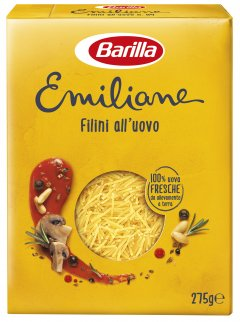 Макароны Barilla Emiliane Filini Филини с яйцом 275 г (8076809573054)