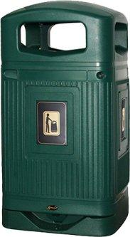 Мусорная урна Glasdon 598 х 1158 х 553 мм 110 л Зеленая (G003)