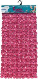 Коврик в ванную комнату Вереск Камушки 36х70 Розовый (4690478038641)