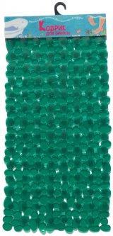 Коврик в ванную комнату Вереск Камушки 40х88 Зеленый (4690478038818)