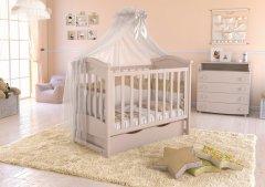 Детская кроватка Angelo Lux-4 Кремовый (11008)