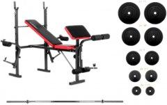 Скамья для жима RN-Sport EverTop со штангой 75 кг (EV075)