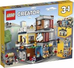 Конструктор LEGO Creator Зоомагазин и кафе в центре города 969 деталей (31097)