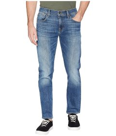 Джинси 7 For All Mankind The Straight Tapered Straight Leg Luxe Performance in Gaston Blue, 38W R (10216872)