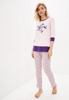 Комплект (лонгслив + штаны) Roza 190106 4XL Розовый (4824005592706)