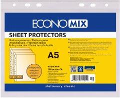 Набор файлов для документов Economix А5 40 мкм глянцевый 100 шт (E31105)