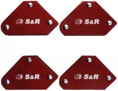 Комплект магнитных угольников S&R для сварки 4 шт (290104005)