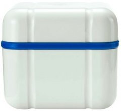 Контейнер с решеткою Curaprox для хранения съемных зубных протезов Синий 1 шт (7612412300109)