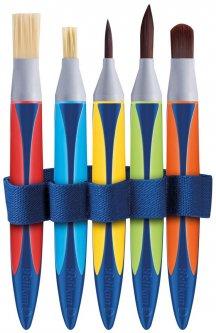 Набор кисточек для обучения рисованию Pelikan Griffix Winning расширенный 5 шт (700733)