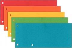 Картонные разделители Interdruk для сегрегатора 240 х 105 мм 170 г/м2 5 цветов 50 шт (260260)