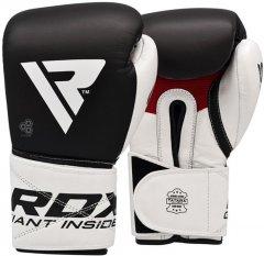 Перчатки боксерские RDX Pro Gel S5 12 унций Черно-белые (2510_40274)