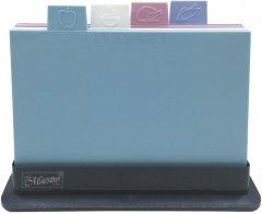 Набор Maestro 4 разделочных доски 29 х 19.5 см + подставка (MR1787)