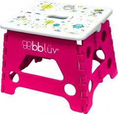 Стульчик-подставка детский Bbluv Stëp складной Розовый (B0114-P) (628451387756)