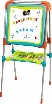 Двухсторонний мольберт Smoby Toys Буквы и цифры с подставкой и аксессуарами (3032164101030)