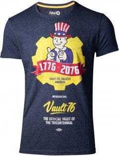 Футболка Difuzed Fallout 76 - Vault 76 Poster Men's T-shirt - S Синяя (TS444557FAL-S)