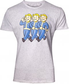 Футболка Difuzed Fallout - Three Vault Boys Men's T-shirt - XL Серая (TS621551FAL-XL)