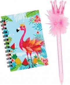 Блокнот Centrum Flamingo 12 х 8 см 60 листов на замке с ручкой Линия (80424) (4030969804247)