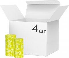 Упаковка пакетов для уборки за животными Trixie 20х4 шт Желтые(4047974234730)