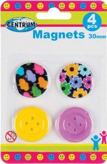 Набор магнитов Centrum 30 мм 4 шт Разноцветный (86632) (4030969866320)