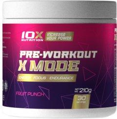 Предтренировочный комплекс 10X Nutrition X MODE 210 г Фруктовый пунш (525272730818)