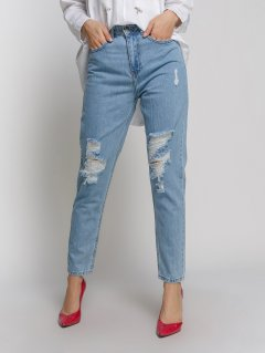 Жіночі джинси мом Mom Boyfriend 27 блакитний (1301)