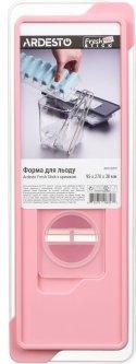 Форма для льда Ardesto Fresh Stick с крышкой 9.5х27х4 см Розовая (AR1102PP)