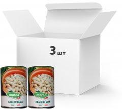 Упаковка белой фасоли Marea White Cannellini beans 3 шт х 400 г (8033219794141)