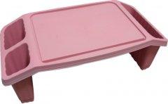 Столик для завтрака Ozgen Plastik 58 х 30 х 23 см Розовый (80391380)