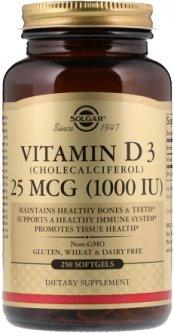 Витамины Solgar Витамин D3 1000 IU 250 капсул (033984033412)