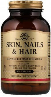 Натуральная добавка Solgar Skin, Nails & Hair Улучшенная формула с МСМ для кожи, ногтей и волос 120 таблеток (033984017368)